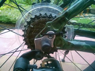 ファットバイクのチェーン落下対策2